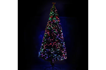 Jingle Jollys 8FT LED Slim Line Christmas Tree (Multi)