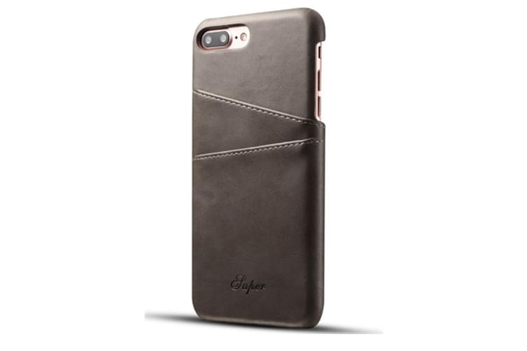 Leather Snap On Cover Case For iPhone 2 Card Holder Slots  SamSungS9