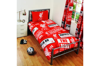 Liverpool FC Childrens/Kids Official Patch Football Crest Duvet Set (Red)