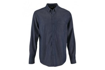 SOLS Mens Barry Long Sleeve Denim Shirt (Denim Brut)