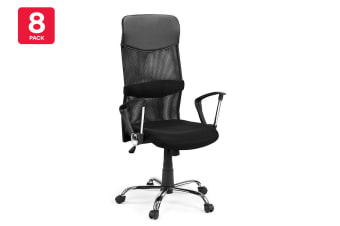 8 Pack Ovela Designer High Back Mesh Office Chair