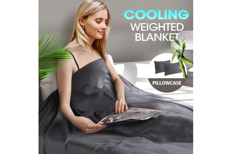 DreamZ 9KG Anti Anxiety Weighted Blanket Bamboo Fiber Cover Pillowcase Blankets
