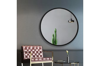 Wall Mirror Round Frameless Polished Bathroom Makeup Mirror 90CM