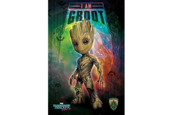 Guardians Of The Galaxy 2 Groot Poster (Multi-colour)