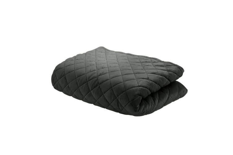 Giselle Bedding Cotton Weighted Blanket Zipper Duvet Cover Adult 152x203cm Black