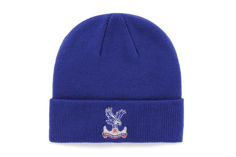 Crystal Palace FC Official Cuff Knitted Hat (Blue) (One Size)