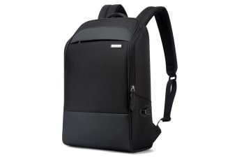 "Bopai Luxury Style Leather & Microfibre Anti-Theft Business and Travel with USB Charging Backpack B6881 Black 15.6"" Laptop"