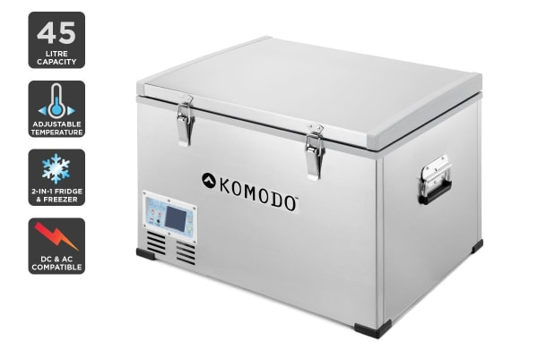 Komodo 45l Portable Fridge And Freezer Kogan Com