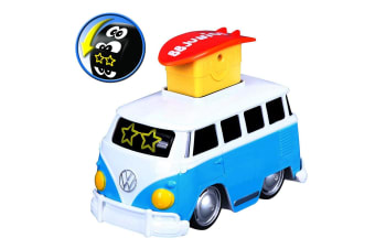 BB Junior 15cm Volkswagen Expression Changes/Press & Go Bus Toy Kids 9m+ Blue