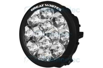 GREAT WHITES GWR5121 12 LED 12V WHITE CAR DRIVING SPOT LIGHT LAMP TRUCK 4X4 4WD