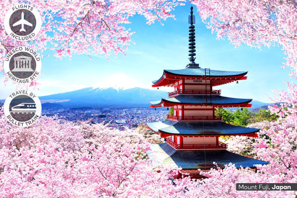 JAPAN: 8 Day Japan by Rail Package Including Flights For Two