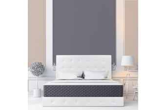 Lisa PU Leather Upholstered Bed Frame White