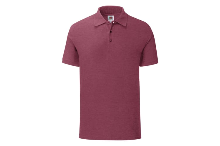 Fruit Of The Loom Mens Iconic Polo Shirt (Heather Burgundy) (XXL)