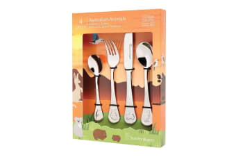 4pc Stanley Rogers Australian Animals Children Cutlery Set Stainless Steel SL