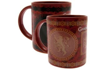 Game Of Thrones Official Lannister Heat Changing Mug (Red) (One Size)