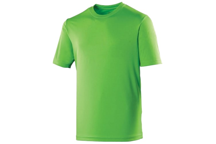 Just Cool Mens Performance Plain T-Shirt (Lime Green) (XS)