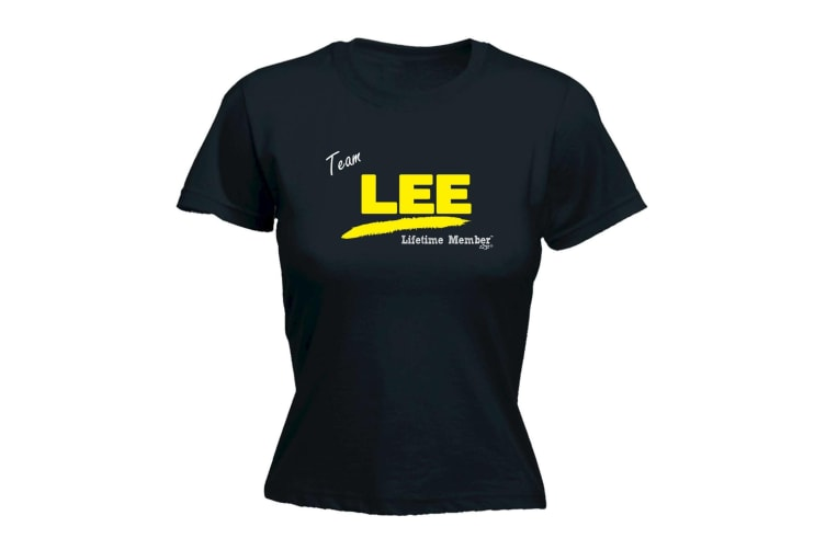 Its a Surname Thing Funny Tee - Lee V1 Lifetime Member - (X-Large Black Womens T Shirt)