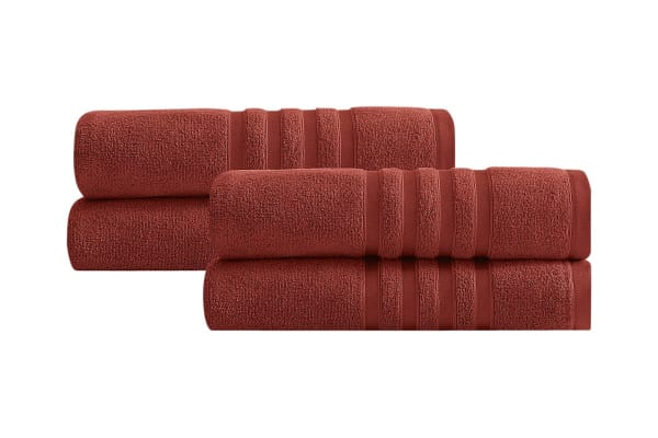 Renee Taylor Aria Zero Twist Egyptian Cotton Towels 4 Pack (Rosewood)