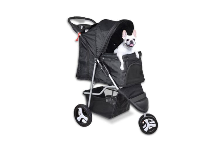 Pet Stroller Dog Cat Puppy Jogger Pushchair Travel Carrier Pram Buggy Wheels New
