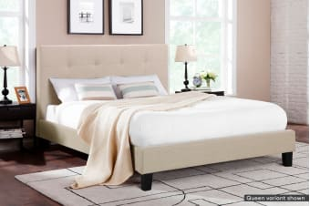 Ovela Bed Frame - Positano Collection (Beige Royal)