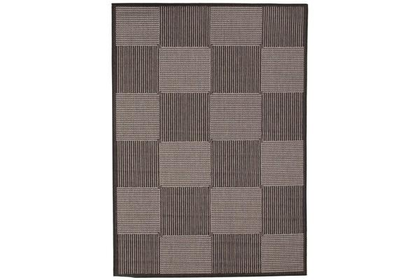 Witchery Indoor Outdoor Modern Black Rug 270X180cm