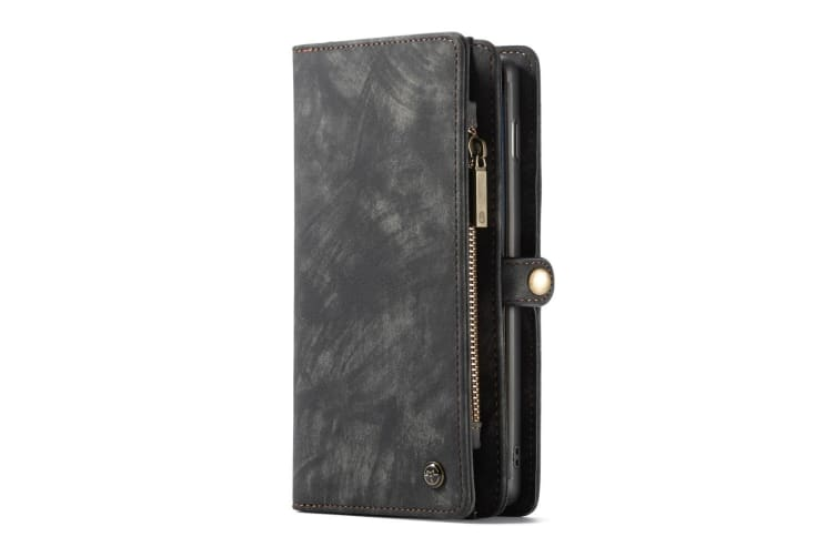 For Samsung Galaxy S10 Case Black Wallet Leather Detachable Kickstand Flip Cover