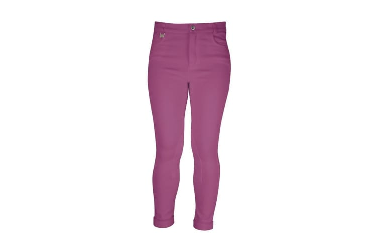HyPERFORMANCE Childrens/Kids Melton Jodhpurs (Plum) (18in)