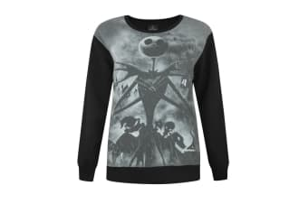 Nightmare Before Christmas Womens/Ladies Sublimation Sweater (Black)