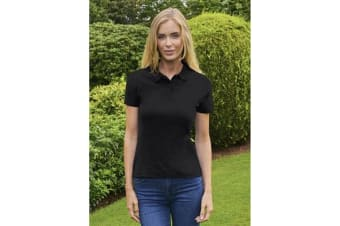 Casual Classic Womens/Ladies Polo (Black)