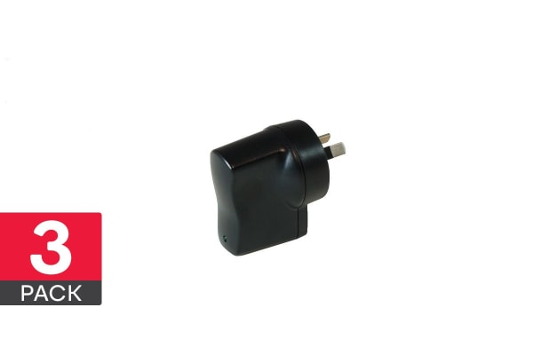 3 Pack Dick Smith 1A USB Power Adapter