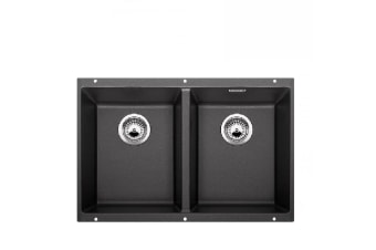 Blanco Subline Double Bowl Undermount Granite Anthracite Black Sink SUB350350UK5