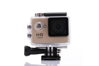 1080P Full Hd Sports Camera 30M Waterproof Loop Rec A9 Action Camera - Gold