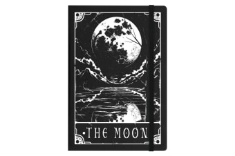 Deadly Tarot The Moon A5 Hard Cover Notebook (Black) (One Size)