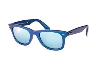 Ray Ban RB2140 WAYFARER - Metallic Azure (Green Mirror Silver lens) Unisex Sunglasses