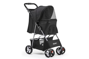 i.Pet 4 Wheel Pet Stroller (Black)