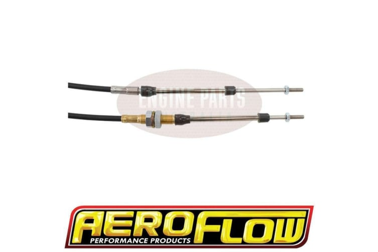 Aeroflow Bulkhead/Clip Combo Cable Black 5Ft Total Length