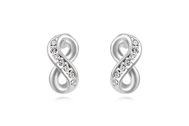 Infinity Earrings Embellished with Swarovski crystals