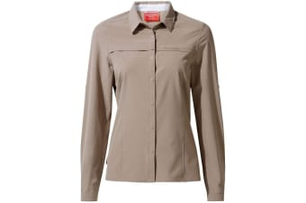 Craghoppers Womens/Ladies NosiLife Pro II Long Sleeved Shirt (Mushroom) (10 UK)