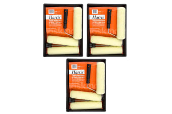 """9pc Harris Task Masters 9"""" Paint Roller/Tray Wall/Ceiling Home/Room Painting Set"""