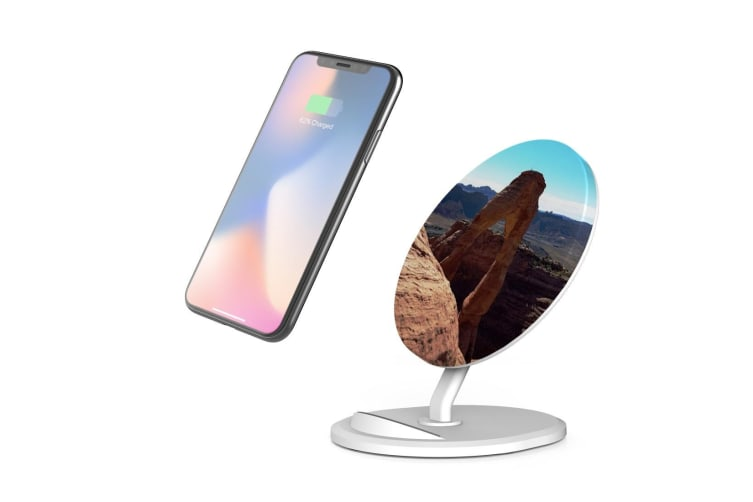 QI Wireless Charger For iPhone 11 Samsung Galaxy S20+ S20 Ultra S10+ Rocky Human