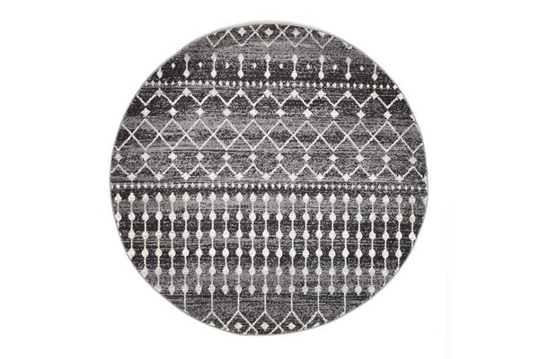 Simplicity Black Transitional Rug 200x200cm