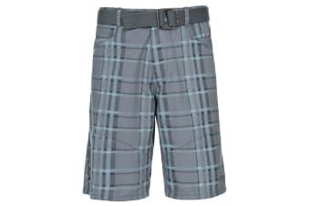 Trespass Mens Penza Casual Shorts (Storm Grey) (S)