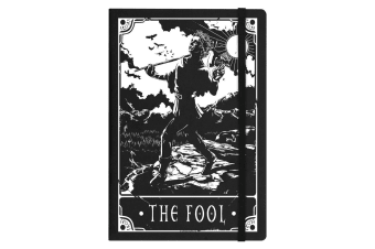 Deadly Tarot The Fool A5 Hard Cover Notebook (Black)