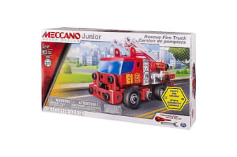 Meccano Junior Rescue Fire Truck with Lights and Sounds