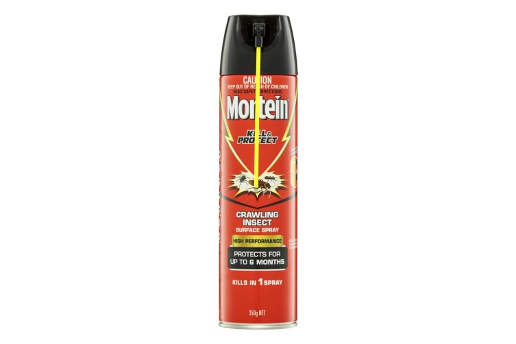 6PK Mortein Kill & Protect 350g Crawling Insect/Cockroach/Spider Surface Spray
