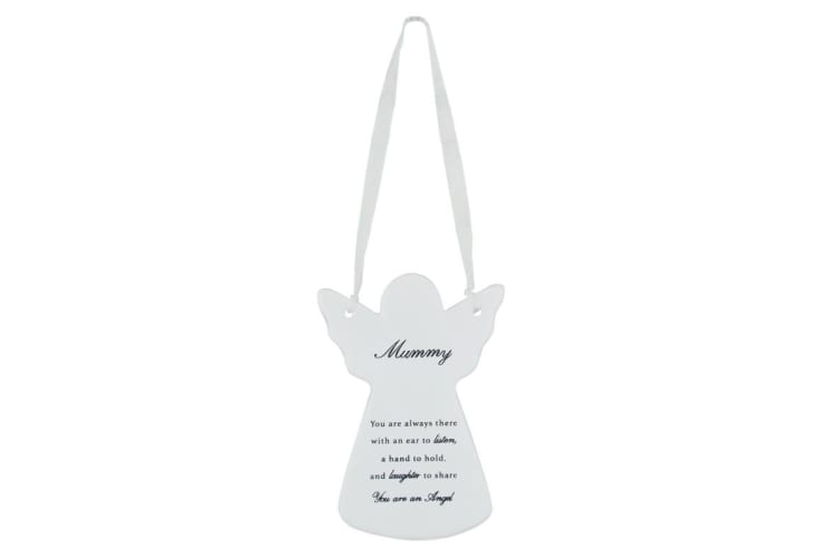 Xpressions Guardian Angel Ceramic Hanging Plaque (Mummy) (One Size)