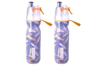 2PK Avanti ORG BPA Free 550ml Cold Drink Water Bottle Mist Spray Insulated Sport