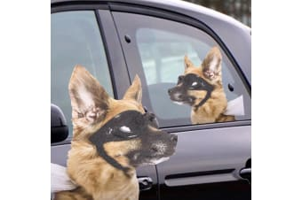 Ride With Goggle Dog Car Window Decal