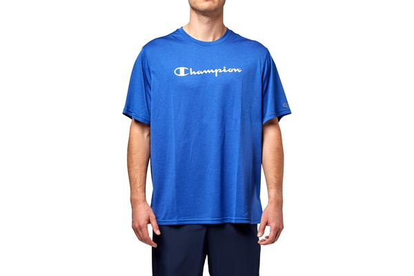 4284988a7 Champion Men s Heritage Script Tee (Surf the Web Heather