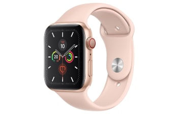 Apple Watch Series 5 (GPS+Cellular) 44mm Gold Aluminum Case Pink Sport Band